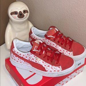 Girls 1.5 Hello Kitty Pumas Red